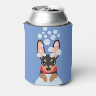 Snow Dog Min Pin Can Cooler