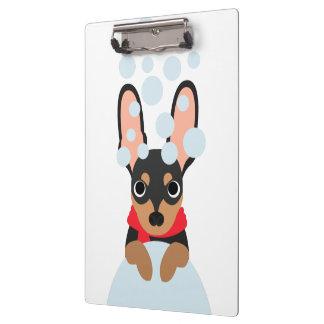 Snow Dog Min Pin Clipboard