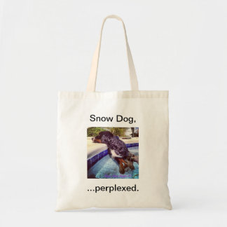 Snow Dog, ...perplexed Tote Bag