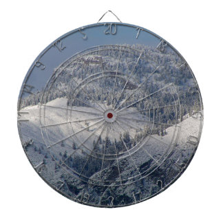 Snow dusted mountains in south Okanagan Dart Boards
