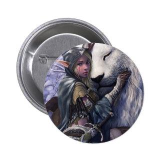 Snow+Elf+Girl+with+Lion 2 Inch Round Button