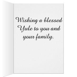 Snow fairy Yuletide greeting card