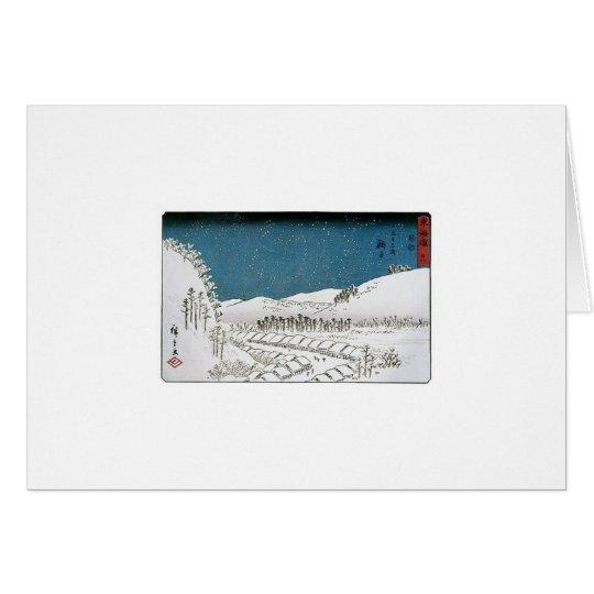 Snow Falling on a Town, Japan circa 1851-52 Card