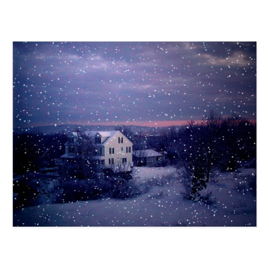 Snow Falling on Manchester Postcard