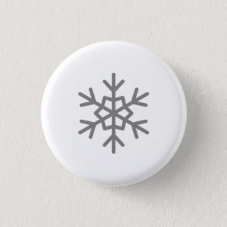 Snow Falling on Serfopoula Snowflake Button