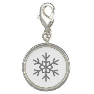 Snow Falling on Serfopoula Snowflake Charm