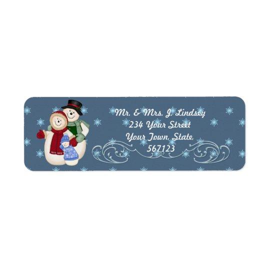 Snow Family Address Label