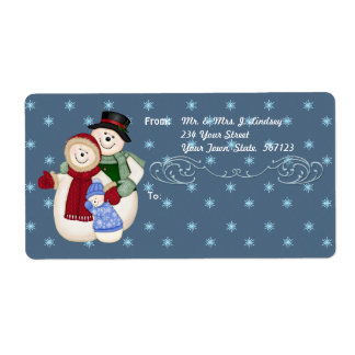 Snow Family Shipping Label