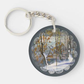 Snow fell keychain