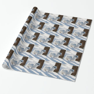 Snow Ferret Wrapping Paper