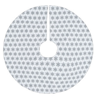 Snow Flake Brushed Polyester Tree Skirt