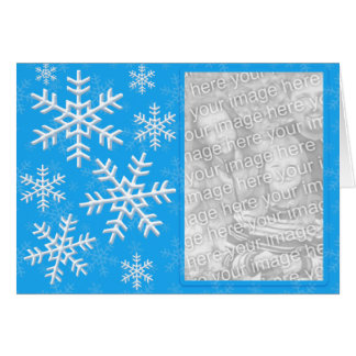 Snow Flake Cascade Custom Photo Card