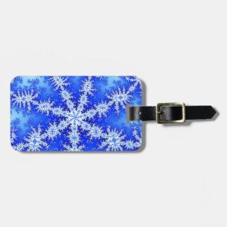 Snow Flake Luggage Tag
