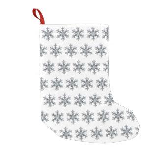 Snow flake small christmas stocking