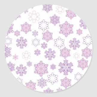 Snow-Flakes- Classic Round Sticker