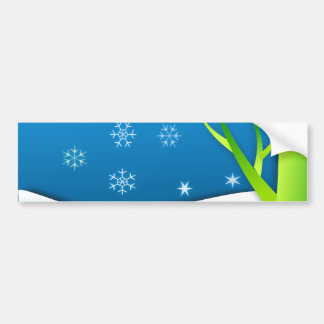 Snow Flakes Scene Bumper Sticker