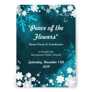 Snow Flowers Winter Fundraiser Event Invitations