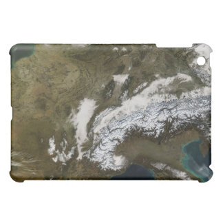Snow, fog, and low clouds in western Europe iPad Mini Cover