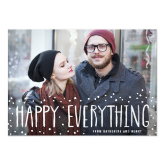 Snow Frame Happy Everything Holiday Photo Card
