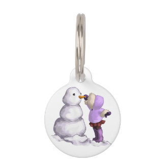 Snow Friend Pet Name Tag