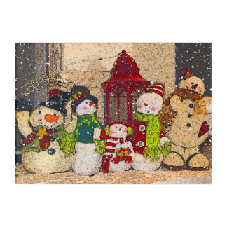 SNOW FRIENDS ACRYLIC WALL ART