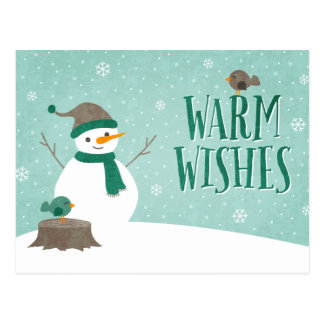 Snow Friends Holiday Postcard