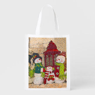 SNOW FRIENDS REUSABLE GROCERY BAG
