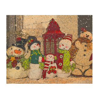 SNOW FRIENDS WOOD WALL DECOR