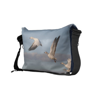 Snow Geese Birds Wildlife Animals Flying Commuter Bags
