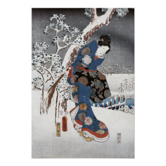 Snow Geisha - Posters & Prints