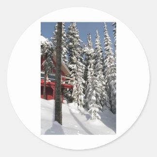 Snow Ghosts in Sunshine Round Sticker