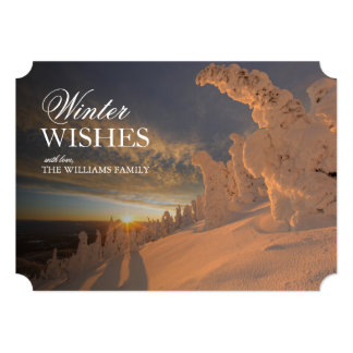 Snow ghosts in the Whitefish Range, Montana Card