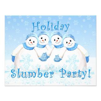 Snow Girls Holiday Slumber Party Invitations