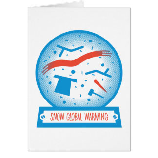 Snow Global Warming (Small) Card