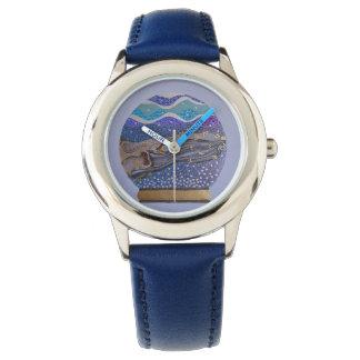 Snow globe 2 wrist watch