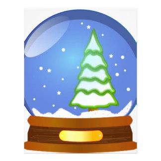 Snow Globe Cartoon Letterhead