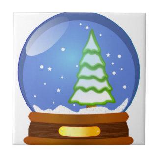 Snow Globe Cartoon Tile
