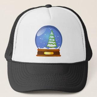 Snow Globe Cartoon Trucker Hat