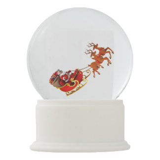 "Snow globe ""Papa Noel and its sleigh """