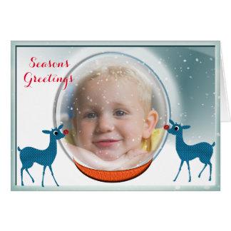 Snow Globe  Personalized Photo Card