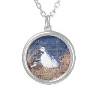 Snow Goose Silver Plated Necklace