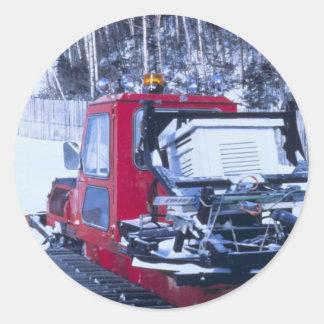Snow Groomer Round Sticker