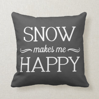 Snow Happy Pillow - Assorted Styles & Colors