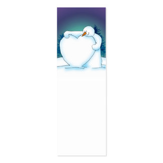 Snow Heart Gift or Note Mini Business Card