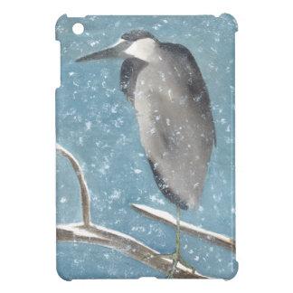 Snow Heron iPad Mini Cover