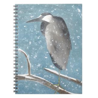 Snow Heron Notebook