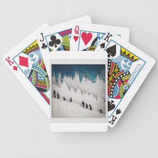 Snow Hike II Bicycle Playing Cards