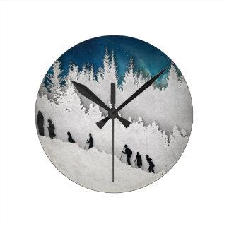 Snow Hike II Clock