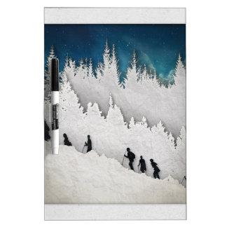 Snow Hike II Dry Erase Board