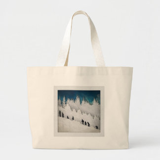 Snow Hike II Large Tote Bag